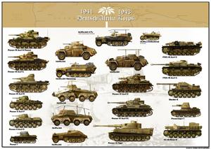 tanks posters - Deutsch Afrika Korps