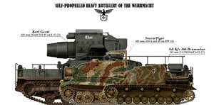 tanks posters - Heavy self Propelled guns of the Werhmacht