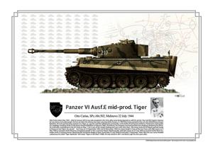 otto Carius Tiger, battle of Malinovo july 1944