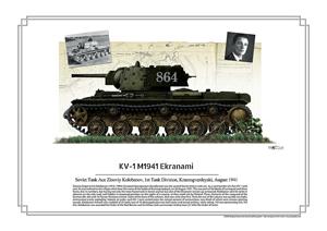 SovietKV-1 Eskranami Tank ace Zinoviy Kolobanov