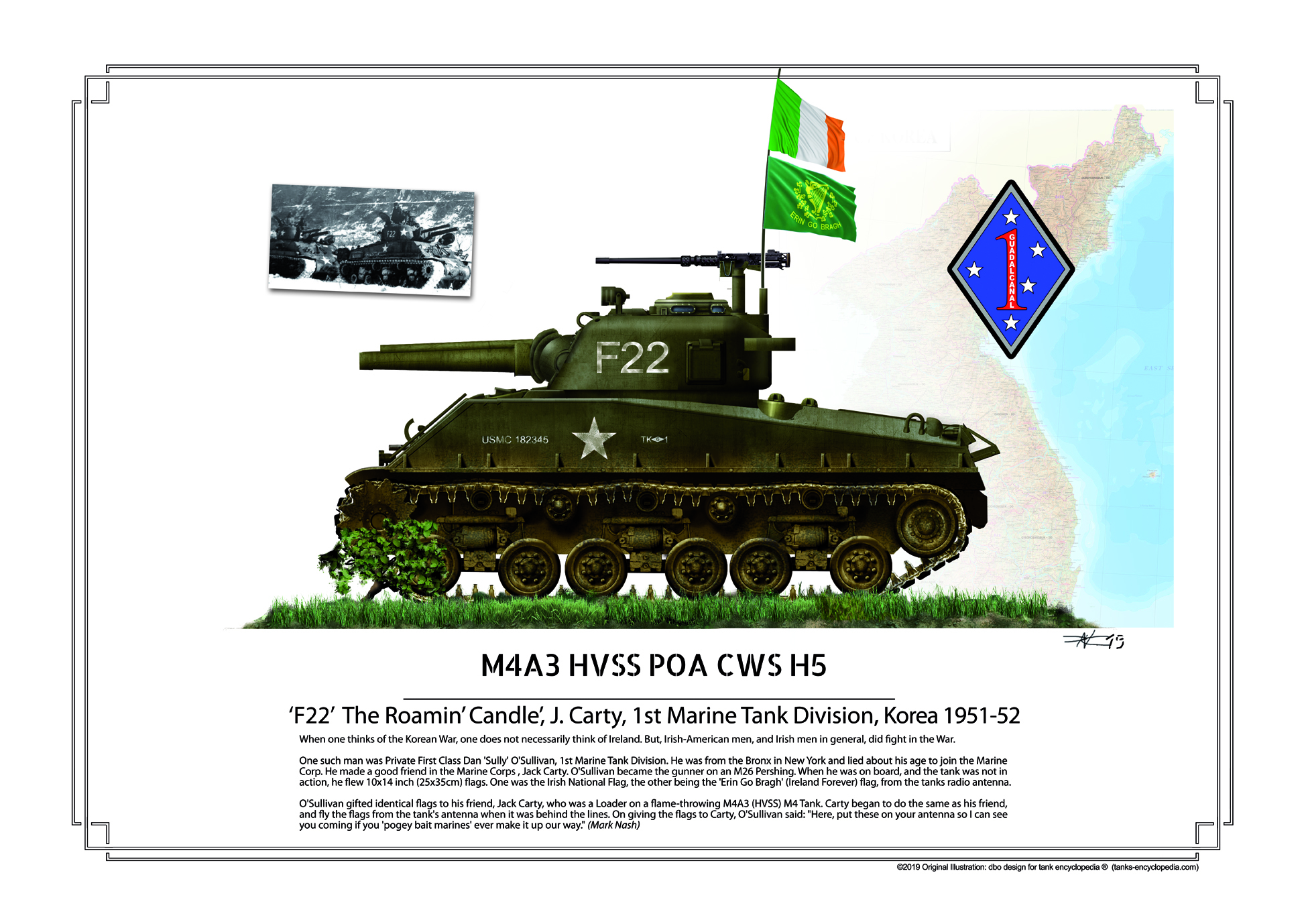 Korean War M4A3 HVSS POA CWS