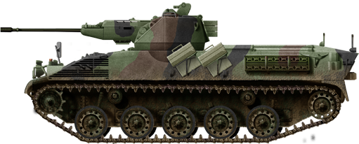 4K 4FA-G2 Infantry Fighting Vehicle/Grenadier version, armed with the one-man turret Oerlikon 20 mm (0.79 in) autocannon.