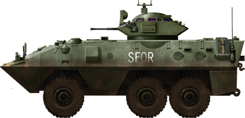 The Grizzly was similar to the Cougar, but with a Cadillac-Gage 1 meter turret. Used for reconnaissance and as an APC