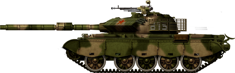 Upgraded Chinese Type 59 IIA with thermal sleeves and new FCS, 2000s