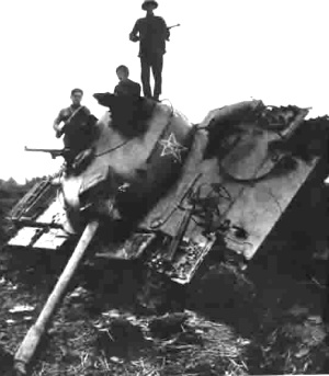 Type 59 from the 8th Army destroyed in 1979