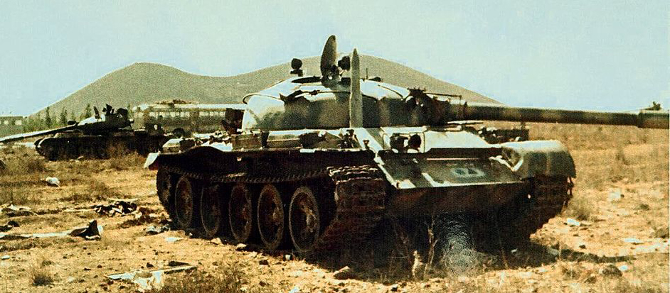 Abandoned Syrian T-62 in the valley of tears, 1973