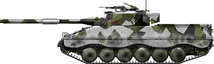 Ikv-91 with winter camouflage