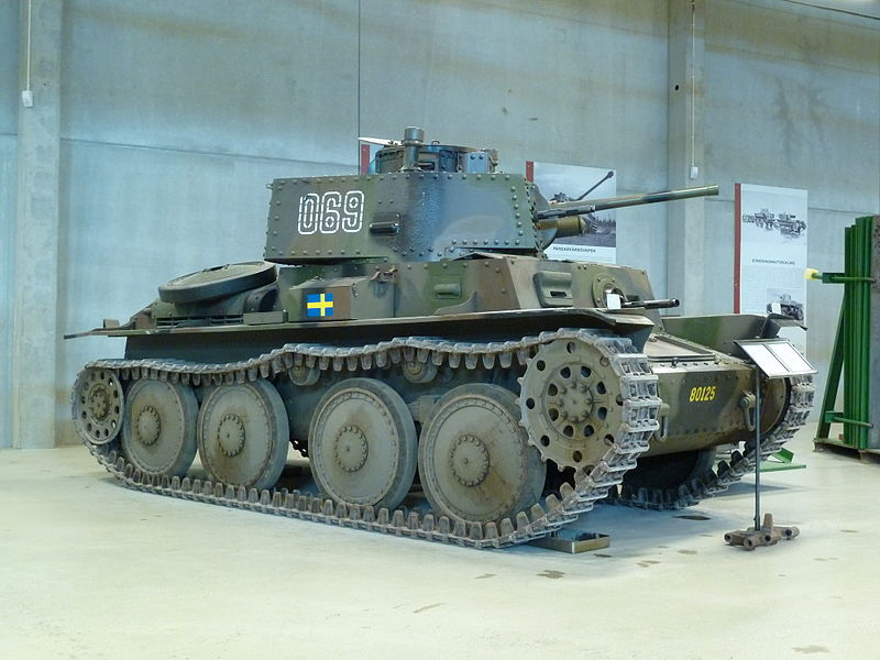 The Stridsvagn m/41 was of Czech design, but built in Sweden. It formed almost a third of WW2 Swedish tanks