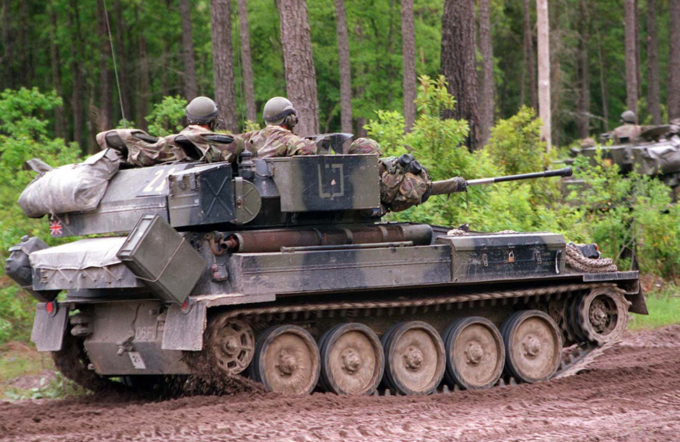 Alvis Scimitar in exercises in the 2000s