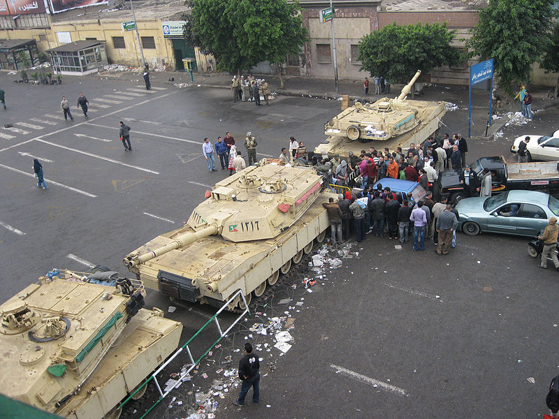 Egyptian M1A1 Abrams during the Arab spring, Martial Law enforcement in 2011, Cairo