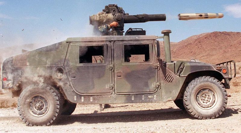 Humvee firing a TOW missile