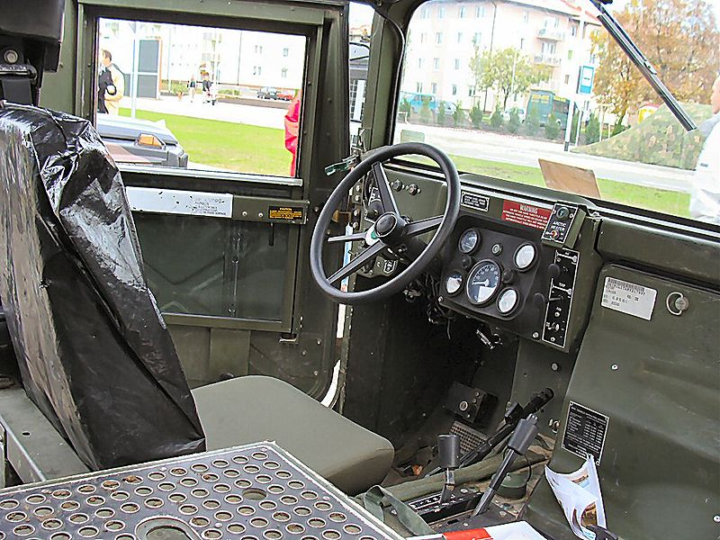 Interior of a Humvee