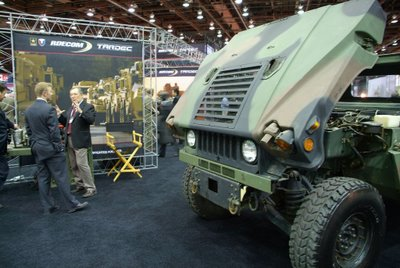 Humvee M1113 with a chassis-mounted XM1124 hybrid Electric diesel