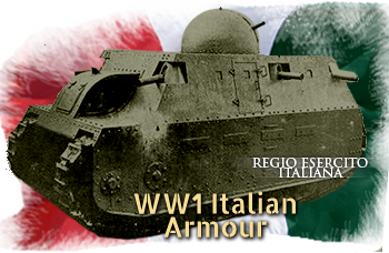 Italian ww1 armoured cars