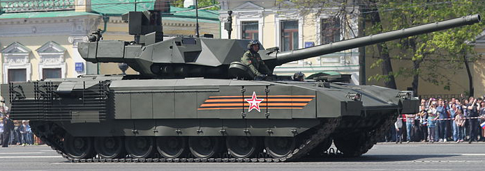 t-14 armata, may 2015 parade (src wikimedia cc)  tanks