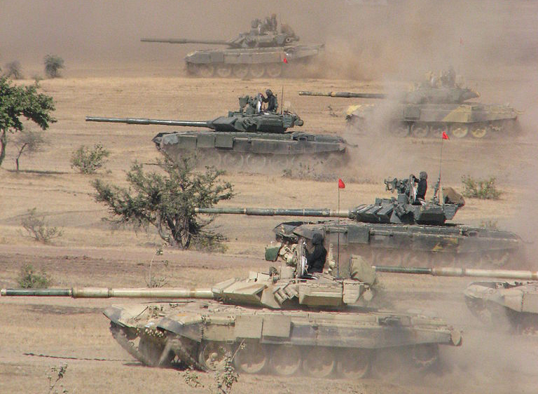 T-90S Bhishma in exercises