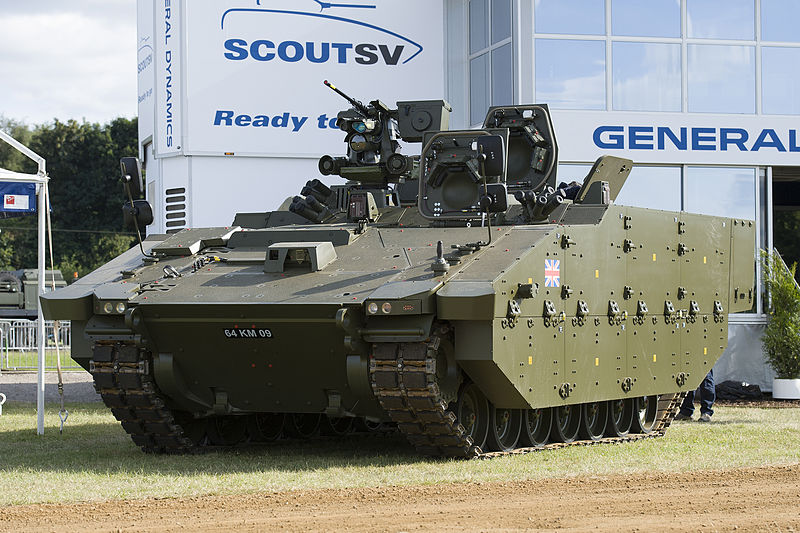 The ASCOD-based Scout SV being shown off by the British MoD in 2014