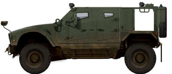 Early vehicle used for the TAPV contest