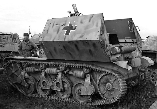 German 8cm schwere Granatwefer 34 auf Panzerspähwagen AMR(35f) self-propelled mortar