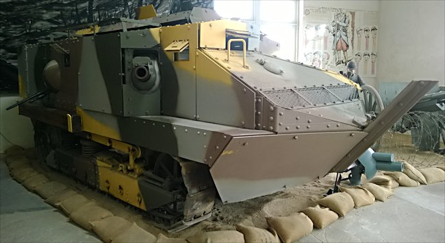 WW1 French Schneider CA 1 Char Tank can be found at the French Tank Museum in Saumur