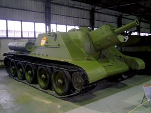 A surviving SU-122 at the Kubinka tank museum