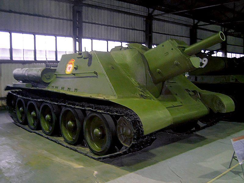 A surviving SU-122 at the Kubinka tank museum