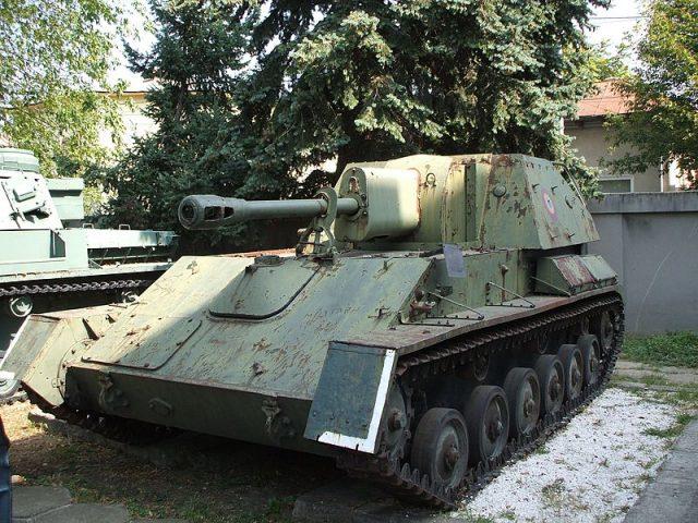 SU-76M at Bucarest's Ferdinand Military Museum