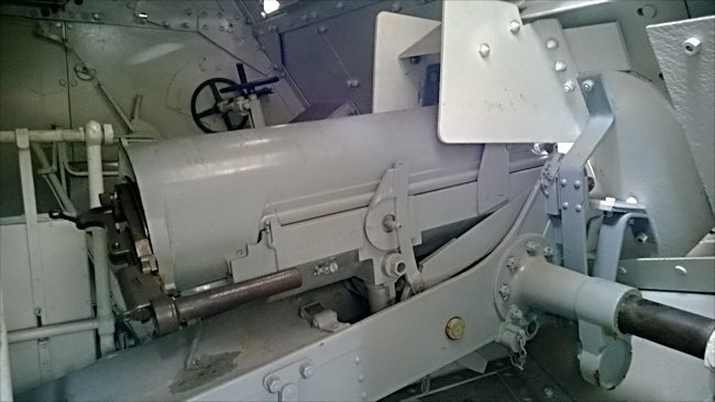 Inside view of the 75mm Gun on the WW1 St-Chamond French Heavy Tank