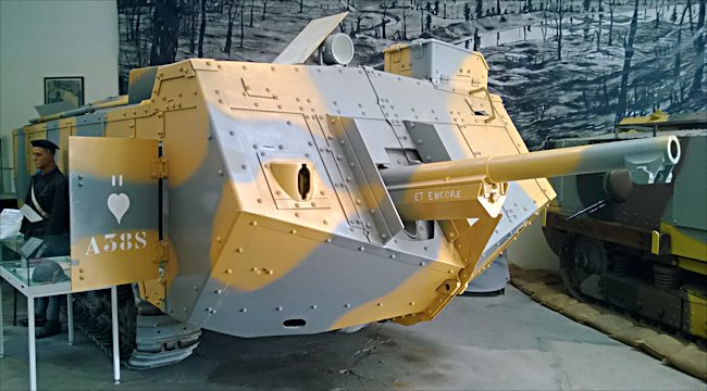 WW1 Saint Chamond French Heavy Tank, called Et Encore, can be found at the French Tank Museum