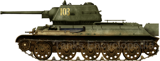 T-34/76 model 1943, unit unknown, Kursk, July 1943
