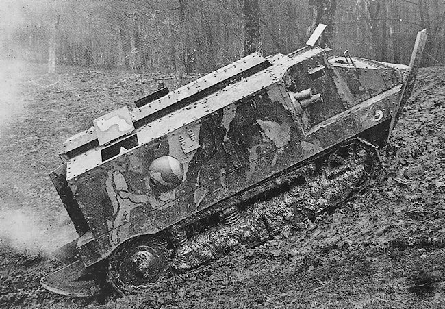 The first French tank the Char Schneider CA-1