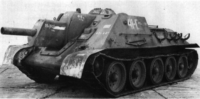 Front left view of the captured SU-122