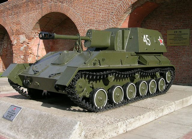 SU-76M as preserved at the Kremlin