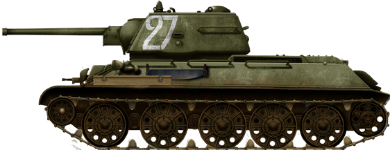 T-34/76 model 1943 at the battle of Prokhorovka, July 1943