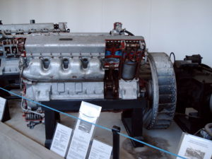 A T-34 engine, such as the one on the SU-122, at the Parola museum in Finland