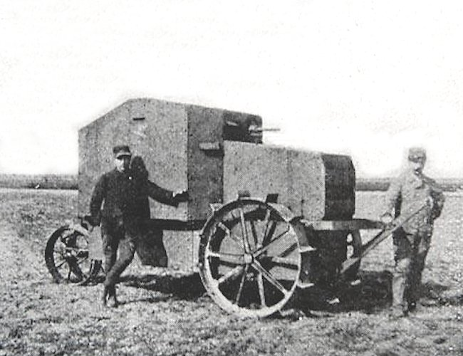 Tracteur agricole Filtz blindéet armé Section technique du Génie