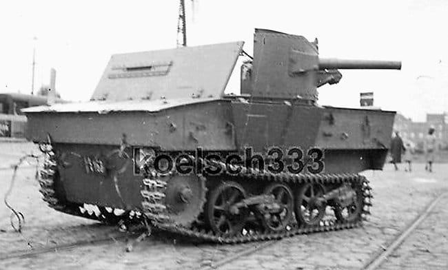abandoned Belgium Army T13 B2 tank