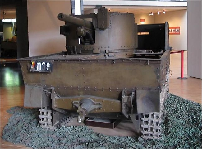 Carden Loyd T13 B2 SPG at the Belgium Tank Museum Brussels.