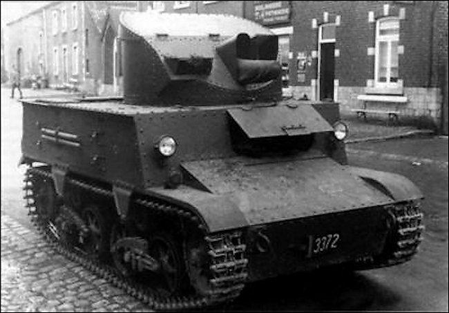 Belgium Army 1940 Carden Loyd T13 B3 Tank