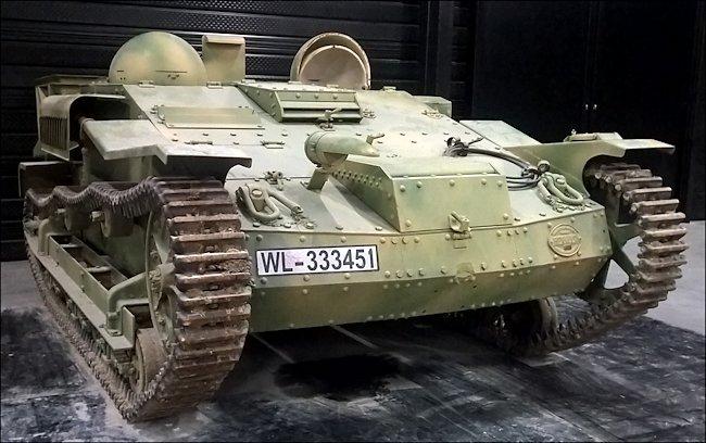 Surviving Renault UE Chenillette Tankette in Normandy