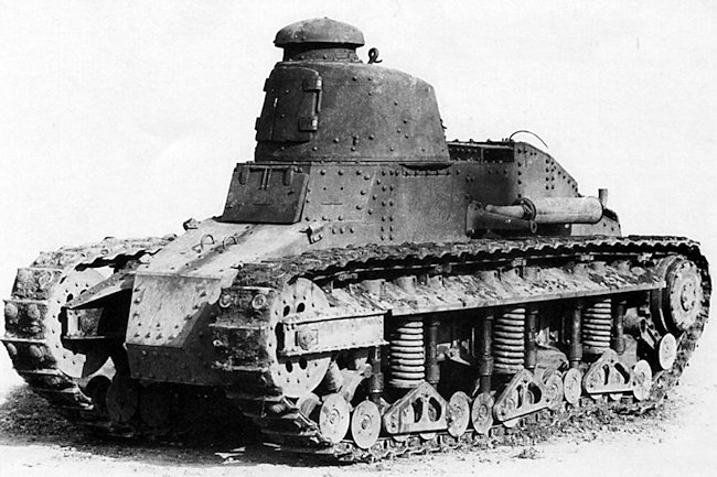 Another view of the Renault NC1 tank prototype.