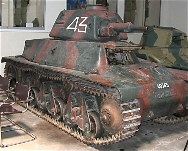 The Hotchkiss H39 Tank This French Hotchkiss H39 tank can be found at the French Tank Museum in Saumur in the Loire Valley. The Museum is called Musée des Blindés