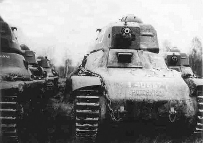 Hotchkiss H39 tank of the TAHURE No.29, 1er RC, chassis number 40557