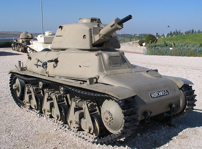 Former Israeli H39 at the Latrun museum