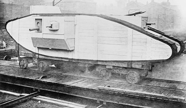 Mark V Tank mock-up
