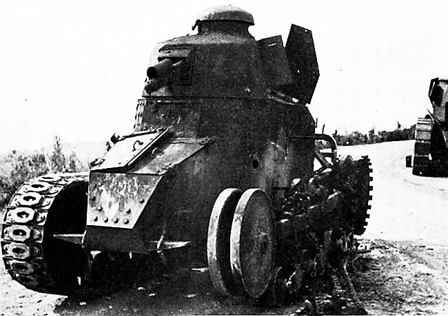 A Yugoslavian disabled Renault FT Kegresse
