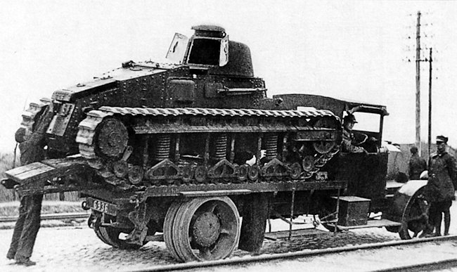 Renault NC-27 tank trials in Poland, 1928