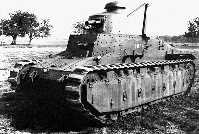 One of the ten Renault NC31 tanks