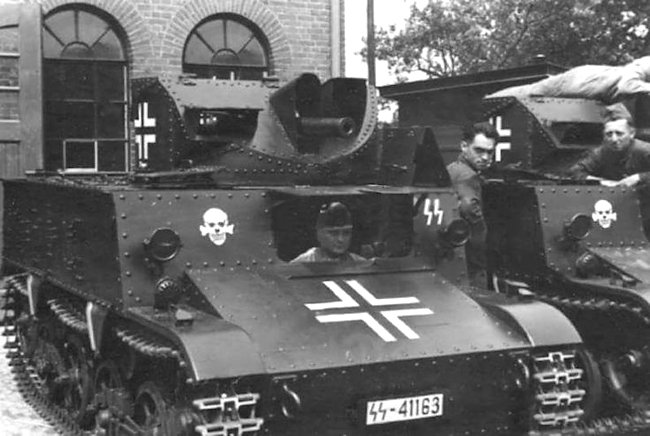 The Germans used Captured Belgium T13 B3 tanks