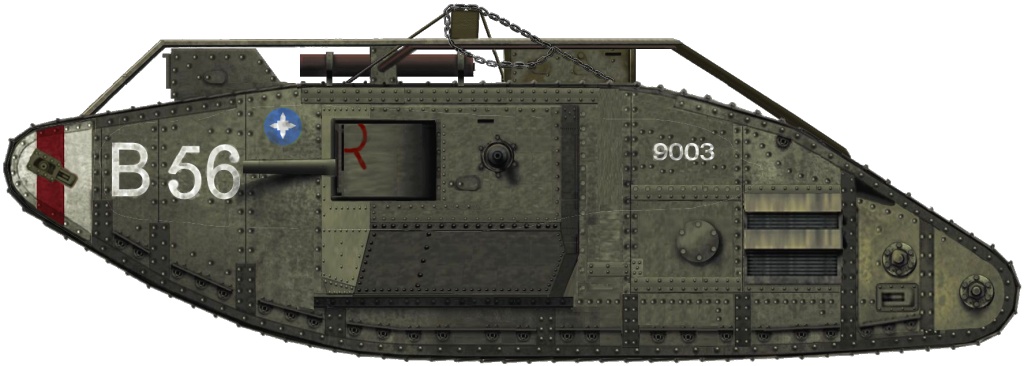 Tank Mark V named Barrhead
